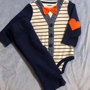Cat & Jack Dapper Dude Set Mock Vest & Bow Tie
